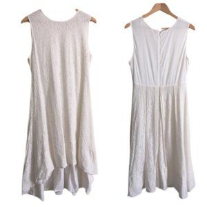 Sundance   Ivory Cotton Lace Sleeveless Dress 14